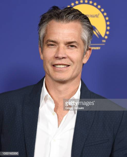 Actor Timothy Olyphant arrives at the 7th Annual Australians In Film Award Benefit Dinner at Paramount Studios on October 24 2018 in Los Angeles...