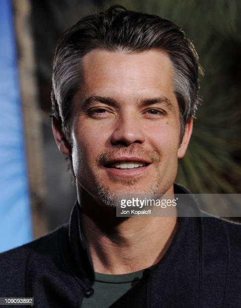 Actor Timothy Olyphant arrives at the Los Angeles Premiere Rango at Regency Village Theatre on February 14 2011 in Westwood California