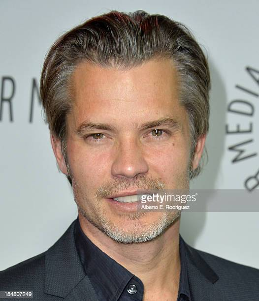 Actor Timothy Olyphant arrives at The Paley Center for Media's 2013 benefit gala honoring FX Networks with the Paley Prize for Innovation Excellence...