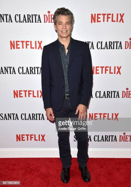 Actor Timothy Olyphant attends Netflix's 'Santa Clarita Diet' season 2 premiere at The Dome at Arclight Hollywood on March 22 2018 in Hollywood...