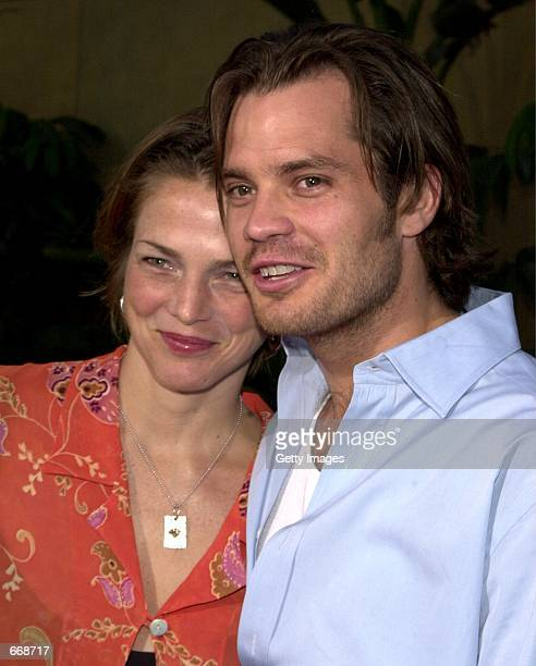 Actor Timothy Olyphant with his wife Alexis arrive at the premiere of the movie 'The Broken Hearts Club' July 17 2000 in Hollywood CA