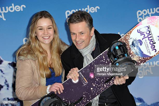 Actor Timothy Peach and his daughter Tiffany attend the Film Premiere of 'Powder Girl' at the Mathaeser Filmpalast on March 4 2011 in Munich Germany