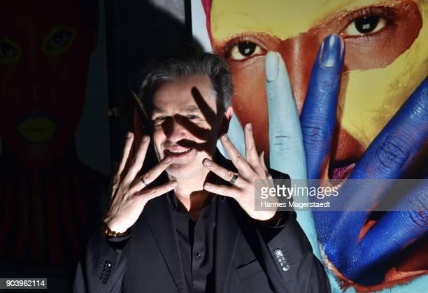 Actor Timothy Peach during 'Der andere Laufsteg' exhibition opening in Munich at Staatliches Museum Aegyptischer Kunst on January 11 2018 in Munich...