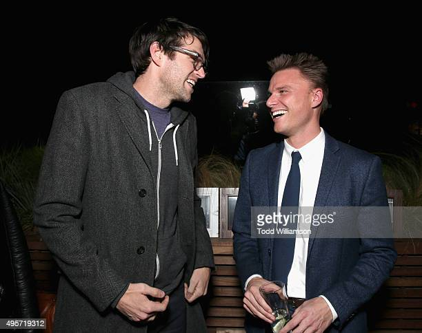 Actor Timothy Simons and manager Ben Curtis attend The Hollywood Reporter Next Gen 2015 Celebration on November 4 2015 in Los Angeles California