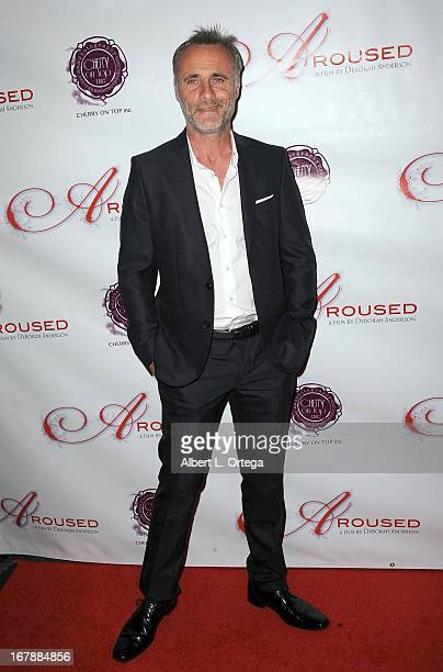 Actor Timothy V Murphy arrives for the Premiere Of 'Aroused' held at Landmark Nuart Theatre on May 1 2013 in Los Angeles California