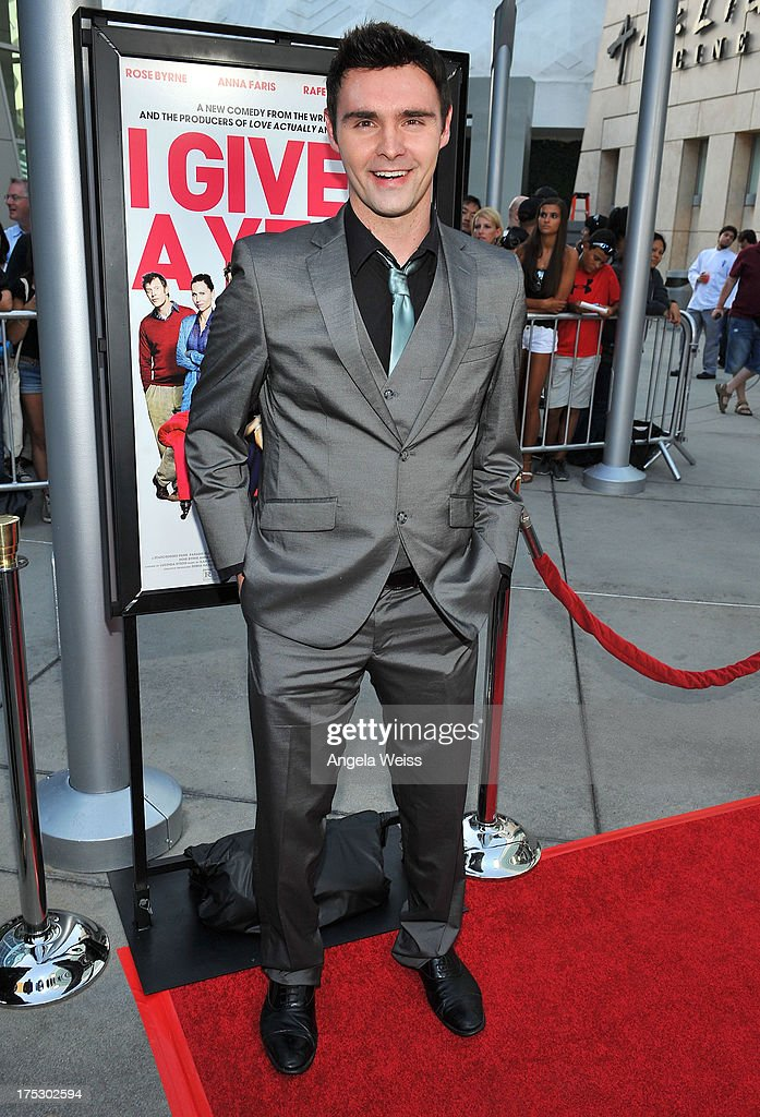 Actor Timothy Woodward Jr. arrives at the Screening of Magnolia Pictures' 'I Give It A Year' at ArcLight Hollywood on August 1, 2013 in Hollywood, California.