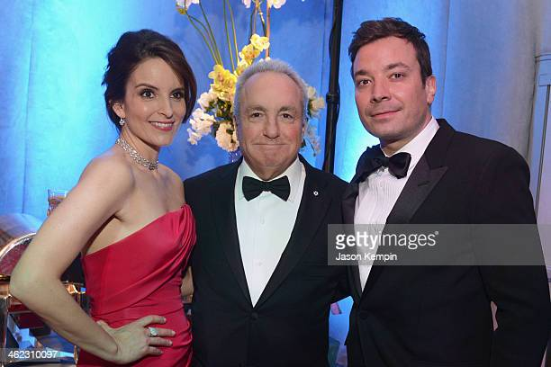 Actor Tina Fey producer Lorne Michaels and actor Jimmy Fallon attend the Universal NBC Focus Features E sponsored by Chrysler viewing and after party...