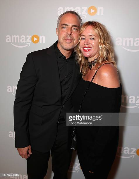 Actor Titus Welliver and Jose Stemkens attend Amazon's Emmy Celebration at Sunset Tower Hotel West Hollywood on September 18 2016 in West Hollywood...