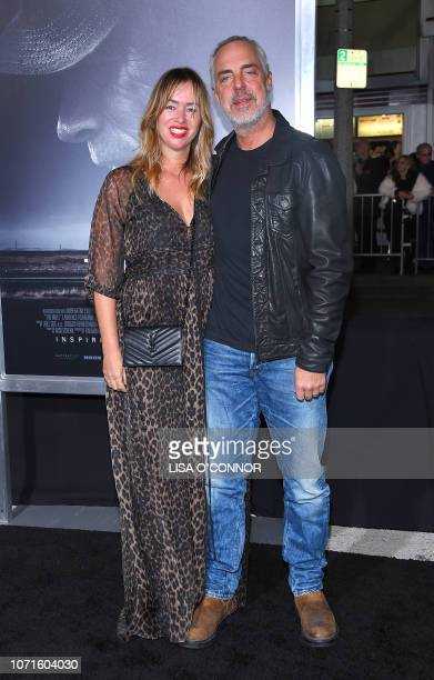 Actor Titus Welliver and wife Jose Stemkens arrive for the premiere of The Mule at the Regency Village theatre in Westwood California on December 10...