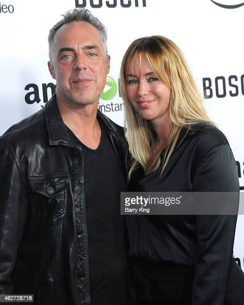 Actor Titus Welliver and wife Jose Welliver arrive at screening of Amazon's 1st Original Drama Series 'Bosch' at The Dome at Arclight Hollywood on...