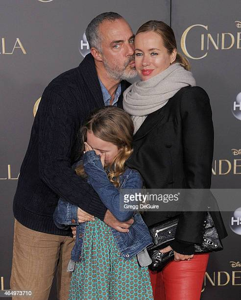 Actor Titus Welliver wife Jose Stemkens and daughter arrive at the World Premiere of Disney's Cinderella at the El Capitan Theatre on March 1 2015 in...