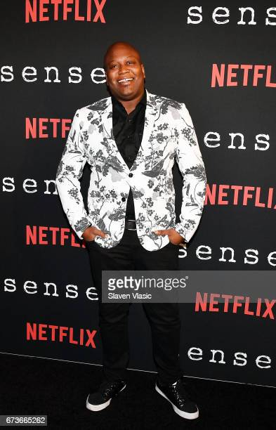 Actor Tituss Burgess attends 'Sense8' New York Premiere at AMC Lincoln Square Theater on April 26 2017 in New York City