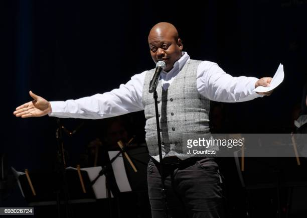 Actor Tituss Burgess hosts the 2017 Stars In The Alley at Shubert Alley on June 2 2017 in New York City