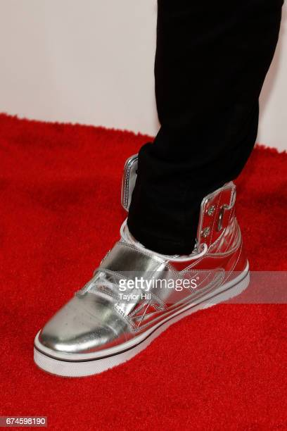Actor Tituss Burgess shoe detail attends the premiere of 'The Unbreakable Kimmy Schmidt' during the 2017 Tribeca Film Festival at Borough of...