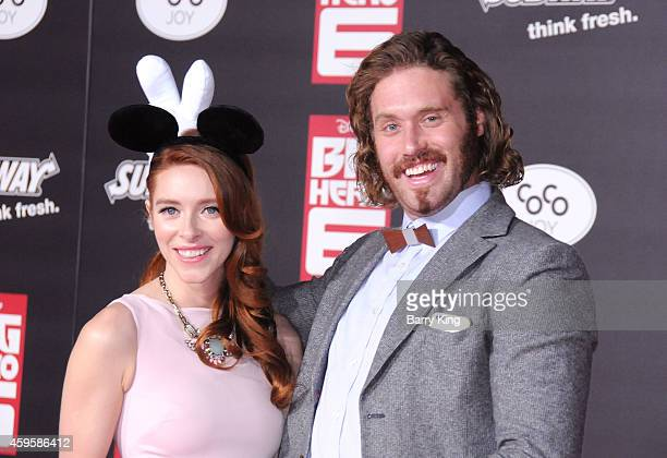 Actor TJ Miller and Kate Gorney arrive at the Los Angeles premiere of 'Big Hero 6' held at the El Capitan Theatre on November 4 2014 in Hollywood...