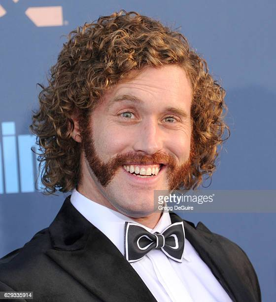 Actor TJ Miller arrives at The 22nd Annual Critics' Choice Awards at Barker Hangar on December 11 2016 in Santa Monica California