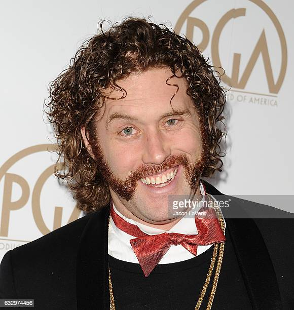 Actor TJ Miller attends the 28th annual Producers Guild Awards at The Beverly Hilton Hotel on January 28 2017 in Beverly Hills California