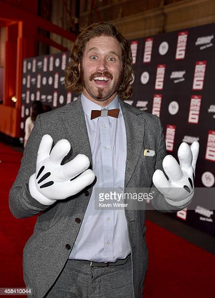 Actor TJ Miller attends the premiere of Disney's Big Hero 6 at the El Capitan Theatre on November 4 2014 in Hollywood California