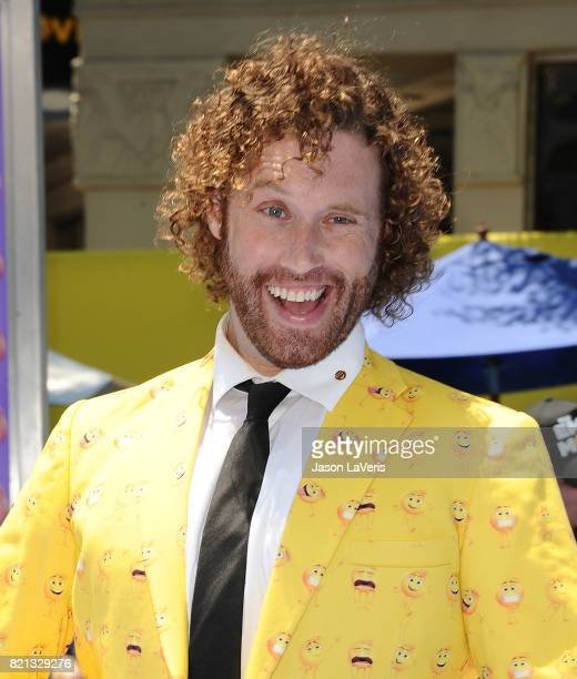 Actor TJ Miller attends the premiere of 'The Emoji Movie' at Regency Village Theatre on July 23 2017 in Westwood California