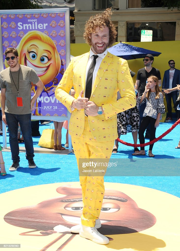 Actor T.J. Miller attends the premiere of 'The Emoji Movie' at Regency Village Theatre on July 23, 2017 in Westwood, California.