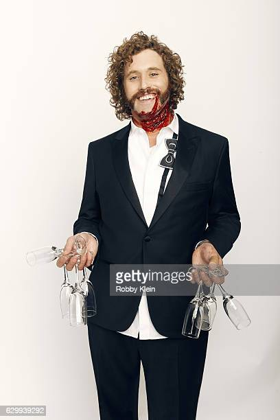 Actor TJ Miller is photographed at the 22nd Critics Choice for Portrait Session on December 11 2016 in Santa Monica California