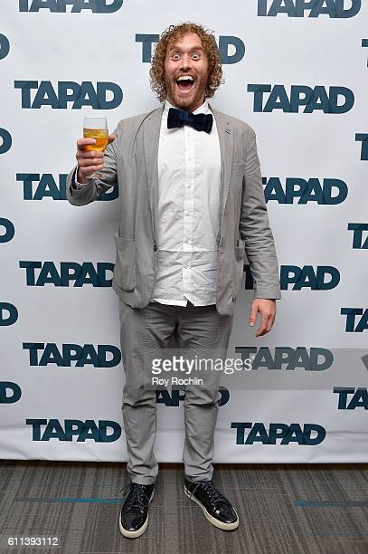 Actor TJ Miller speaks on the Unify Tech'16 Tapad's version of Bachmanity panel at Nasdaq MarketSite during 2016 Advertising Week New York on...