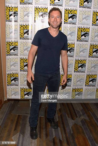 "Actor T.J. Thyne attends Comic-Con International 2016 ""Bones"" press line at Hilton Bayfront on July 22, 2016 in San Diego, California."