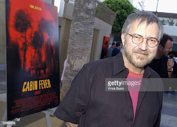 Actor Tobe Hooper arrives for the Los Angeles premiere of the film 'Cabin Fever' on August 8 2003 at the Egyptian Theatre in Hollywood California
