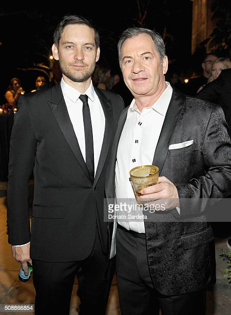 Actor Tobey Maguire and Alec Gores attend the PSLA Winter Gala on February 6 2016 in Beverly Hills California