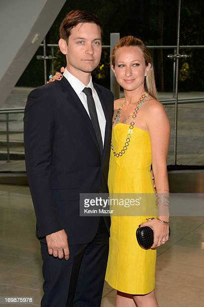 Actor Tobey Maguire and designer Jennifer Meyer attend 2013 CFDA Fashion Awards at Alice Tully Hall on June 3 2013 in New York City