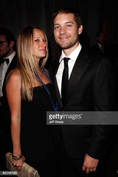 Actor Tobey Maguire and wife Jennifer Meyer attend The Art of Elysium 2nd Annual Heaven Gala held at Vibiana on January 10, 2009 in Los Angeles,...