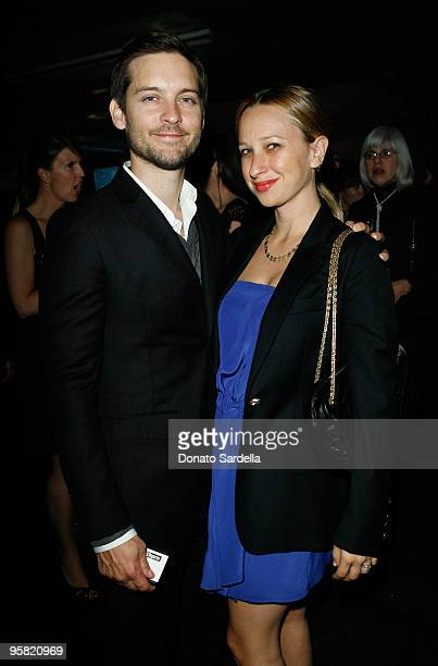 """Actor Tobey Maguire and wife Jennifer Meyer-Maguire attend The Art of Elysium's 3rd Annual Black Tie Charity Gala """"Heaven"""" on January 16, 2010 in..."""