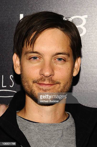 """Actor Tobey Maguire attends Bing Presents """"The Details"""" Official Cast Dinner and After-Party on January 24, 2011 in Park City, Utah."""