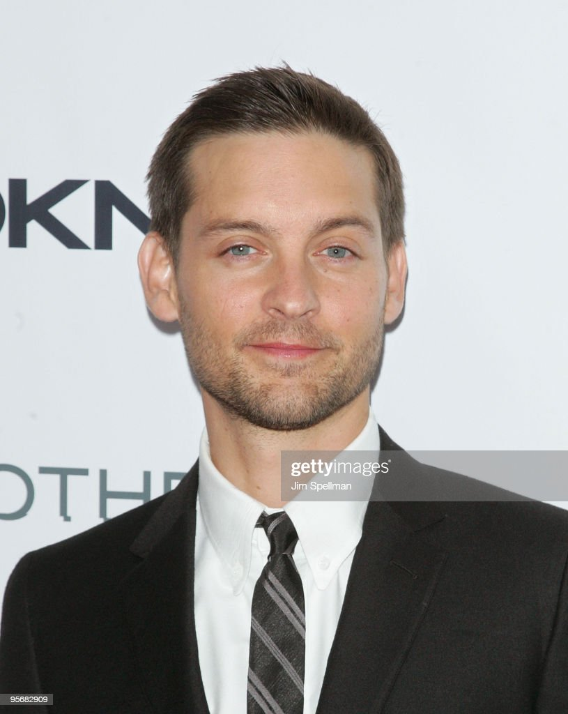 Actor Tobey Maguire attends the Cinema Society and DKNY Men screening of 'Brothers' at the SVA Theater on November 22, 2009 in New York City.