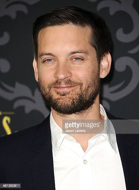 Actor Tobey Maguire attends the premiere of IFC's 'The Spoils Of Babylon' at DGA Theater on January 7 2014 in Los Angeles California