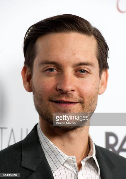 Actor Tobey Maguire attends The Premiere Of RADiUSTWC's The Details at ArcLight Cinemas on October 29 2012 in Hollywood California