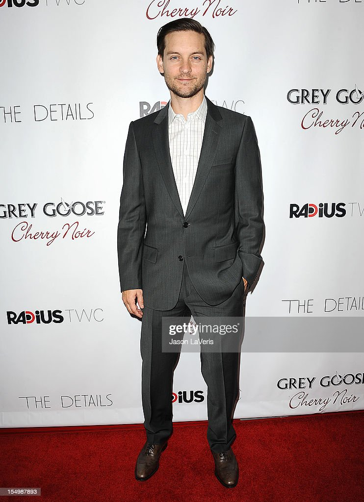Actor Tobey Maguire attends the premiere of 'The Details' at ArcLight Cinemas on October 29, 2012 in Hollywood, California.
