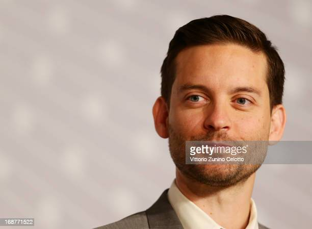 Actor Tobey Maguire attends the 'The Great Gatsby' Press Conference during the 66th Annual Cannes Film Festival at the Palais des Festivals on May 15...
