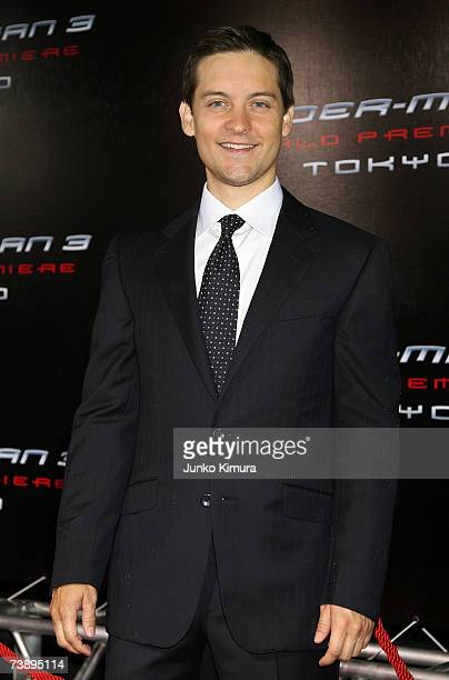 Actor Tobey Maguire attends the World Premiere of 'SpiderMan 3' at the Roppongi Hills Mori Tower on April 16 2007 in Tokyo JapanThe film opens on May...