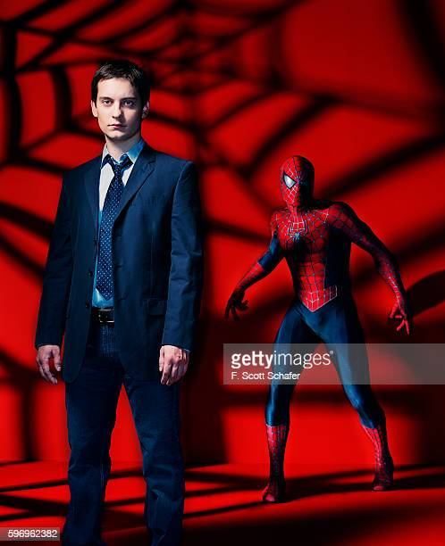 Actor Tobey Maguire is photographed for Newsweek Magazine in 2004