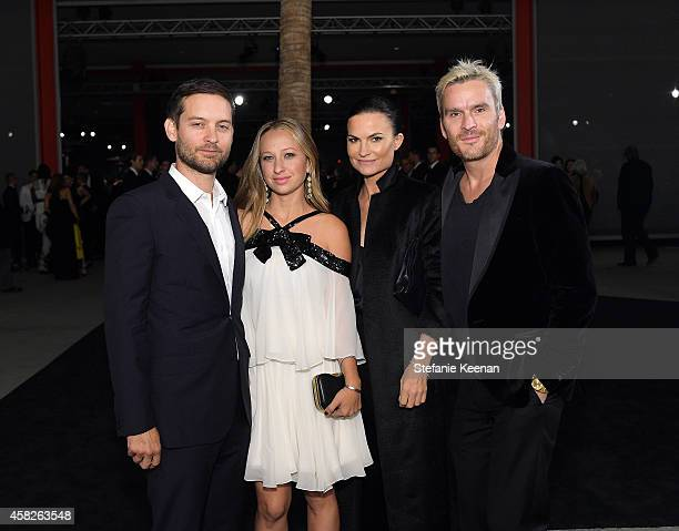 Actor Tobey Maguire, jewelry designer Jennifer Meyer, fashion designer Rosetta Millington and actor Balthazar Getty attend the 2014 LACMA Art + Film...