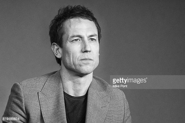 Actor Tobias Menzies attends Apple Store Soho Presents Meet the Cast 'Outlander' at Apple Store Soho on April 6 2016 in New York City