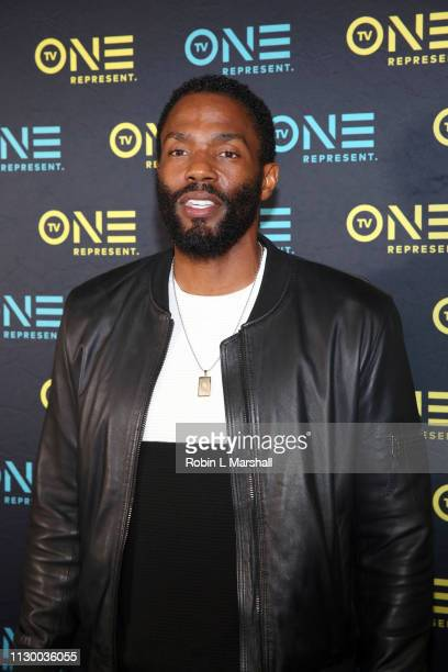 Actor Tobias Truvillion attends the TV One Premiere Screening of 'Loved To Death' during the Pan African Film Festival at Baldwin Hills Crenshaw...