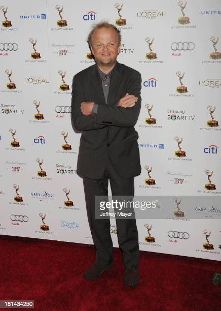 Actor Toby Jones arrives at the 65th Emmy Awards Performers Nominee Reception at Spectra by Wolfgang Puck at the Pacific Design Center on September...