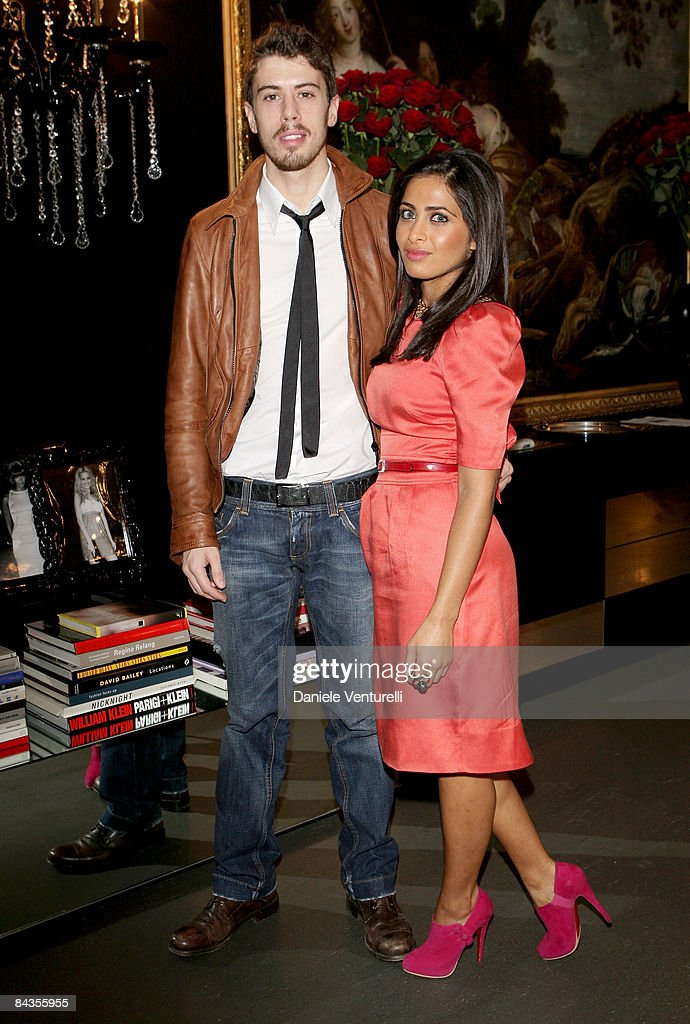 Actor Toby Kebbell and his girlfriend Ruzwana Bashi pose