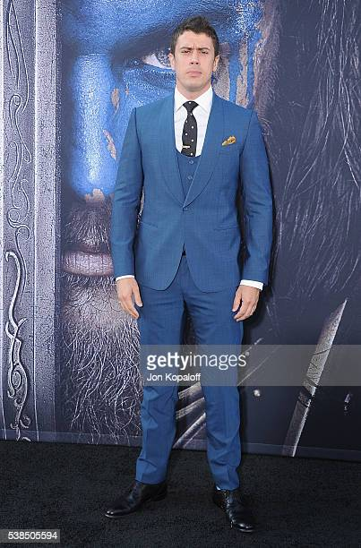 "Actor Toby Kebbell arrives at the Los Angeles Premiere ""Warcraft"" at TCL Chinese Theatre IMAX on June 6, 2016 in Hollywood, California."