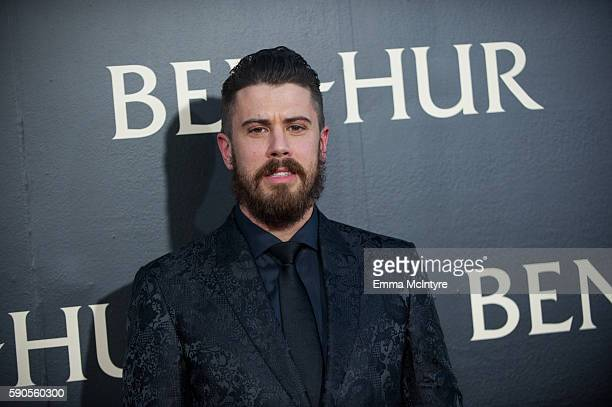 Actor Toby Kebbell arrives at the premiere of Paramount Pictures' 'Ben Hur' at TCL Chinese Theatre IMAX on August 16, 2016 in Hollywood, California.
