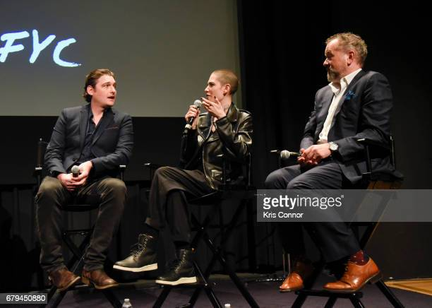 Actor Toby Leonard Moore Asia Kate Dillon and David Costabile speak during the SHOWTIMEpresented screening panel discussion and reception for episode...