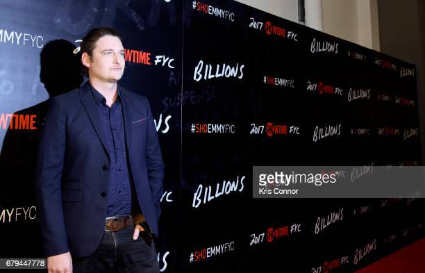 Actor Toby Leonard Moore attends the SHOWTIMEpresented screening panel discussion and reception for episode 211 of the hit series BILLIONS held at...