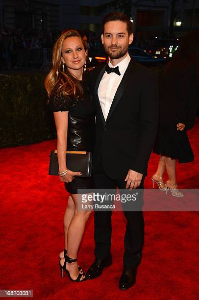 Actor Toby Maguire and Jennifer Meyer attend the Costume Institute Gala for the 'PUNK Chaos to Couture' exhibition at the Metropolitan Museum of Art...